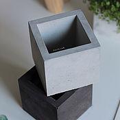 Кашпо ручной работы. Ярмарка Мастеров - ручная работа Горшок из бетона Куб для суккулентов и кактусов. Handmade.
