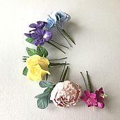 Украшения handmade. Livemaster - original item Hairpins with flowers