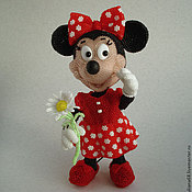 Куклы и игрушки ручной работы. Ярмарка Мастеров - ручная работа Бисерная Минни Маус. Handmade.