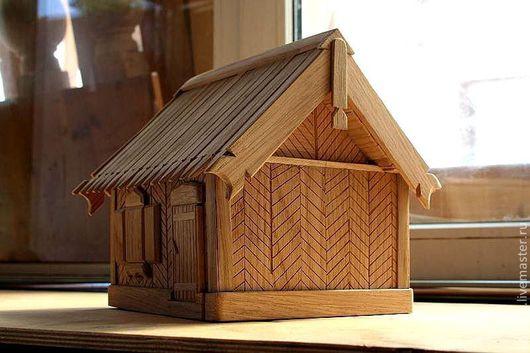 Детская ручной работы. Ярмарка Мастеров - ручная работа. Купить Шкатулка - домик в деревне. Handmade. Оранжевый, душевный подарок