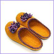 """Обувь ручной работы. Ярмарка Мастеров - ручная работа Тапочки """" Сиреневые цветочки"""". Handmade."""