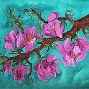Картины и панно handmade. Livemaster - original item Pictures: Flowering Magnolia tree. Handmade.