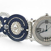 Украшения handmade. Livemaster - original item Watch with soutache bracelet. Handmade.