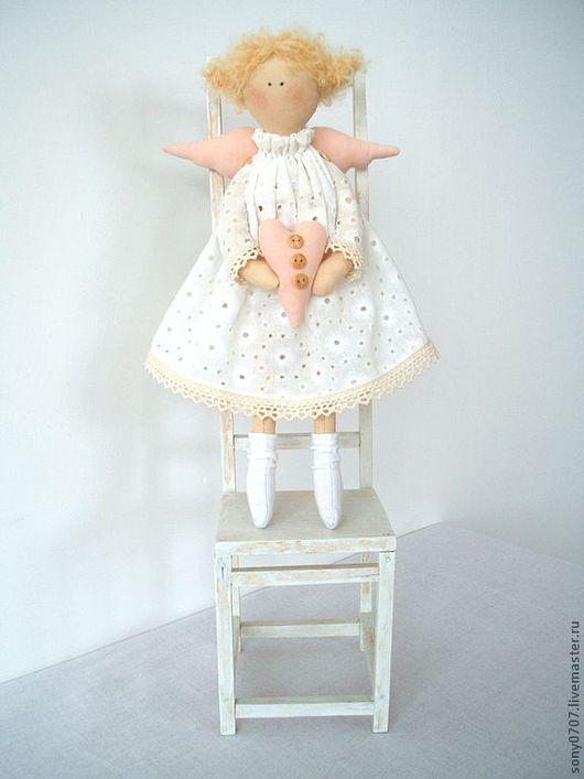 Куклы Тильды ручной работы. Ярмарка Мастеров - ручная работа. Купить Маленькая Сонечка. Handmade. Текстильная кукла, белый, бязь