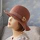 """Шляпы ручной работы. Ярмарка Мастеров - ручная работа. Купить шляпка """"Бохо"""". Handmade. Валяная шляпка, бохо, шляпы на осень"""