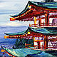 Oil painting Japanese motifs of Mount Fuji. Pictures. Zabaikalie. Online shopping on My Livemaster.  Фото №2