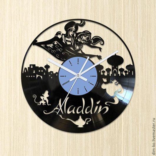 Часы для дома ручной работы. Ярмарка Мастеров - ручная работа. Купить Часы настенные из виниловой пластинки Aladdin. Handmade.