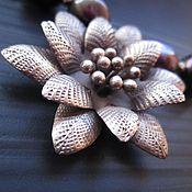 Украшения handmade. Livemaster - original item Necklaces Black pearl silver, pearl. Handmade.
