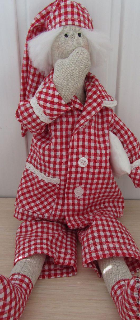 """Куклы Тильды ручной работы. Ярмарка Мастеров - ручная работа. Купить Кукла """" Сплюшка"""". Handmade. Ярко-красный, феи"""