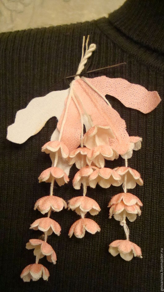 Винтажные украшения. Ярмарка Мастеров - ручная работа. Купить Винтажная брошь из ткани. Handmade. Комбинированный, шёлк