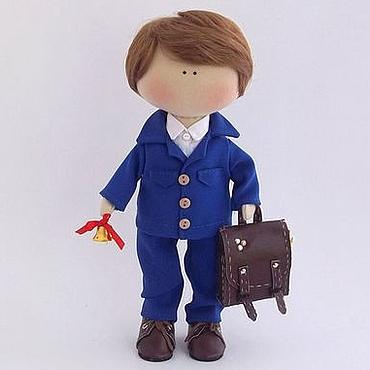 Куклы и игрушки ручной работы. Ярмарка Мастеров - ручная работа Кукла мальчик. Школьник. Handmade.