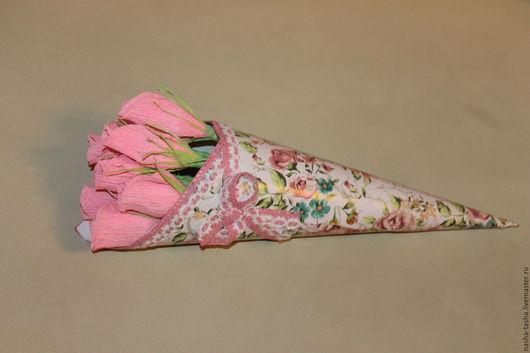 """Букеты ручной работы. Ярмарка Мастеров - ручная работа. Купить Конфетный букет в кулечке """"Очарование"""". Handmade. Розовый"""