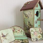 """Для дома и интерьера ручной работы. Ярмарка Мастеров - ручная работа Кухонный набор """"Птичьи гнезда"""". Handmade."""