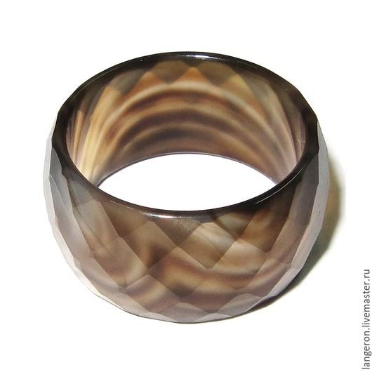 Кольца ручной работы. Ярмарка Мастеров - ручная работа. Купить Кольцо из натурального агата.. Handmade. Кольцо, агат натуральный