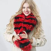 Аксессуары handmade. Livemaster - original item Fox fur collar in red & black. Handmade.