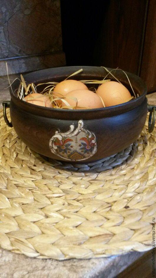 Кухня ручной работы. Ярмарка Мастеров - ручная работа. Купить Деревянная миска. Handmade. Коричневый, кухонный набор, Деревянная посуда