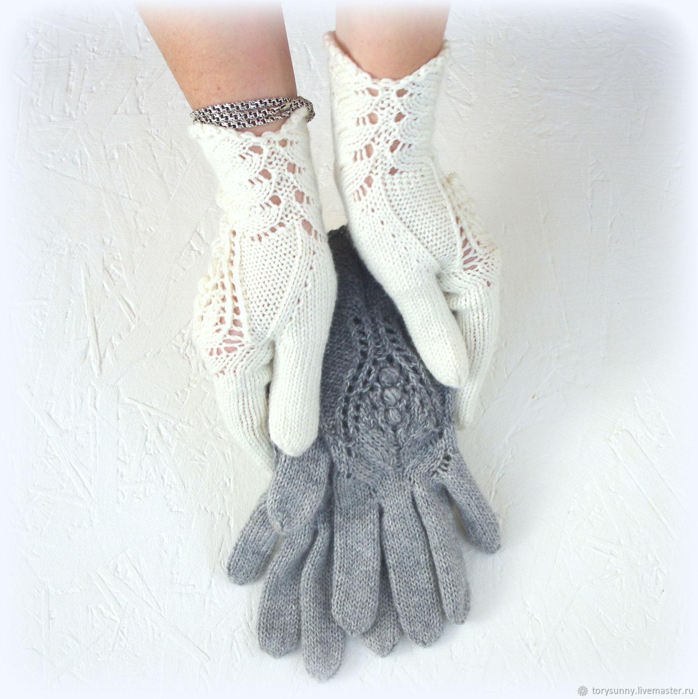 """Кашемировые перчатки """"Питайя"""", Варежки митенки перчатки, Севастополь, Фото №1"""