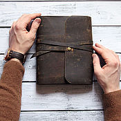 Канцелярские товары handmade. Livemaster - original item Leather notebook handmade. Handmade.