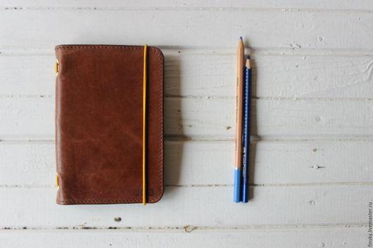 Блокноты ручной работы. Ярмарка Мастеров - ручная работа. Купить Кожаный мольскин ежедневник. Handmade. Коричневый, мольскин, кожаный скетчбук