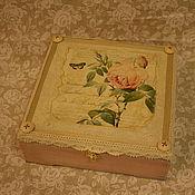"""Подарки к праздникам ручной работы. Ярмарка Мастеров - ручная работа """"Розовая нежность""""  Шкатулка для украшений. Handmade."""