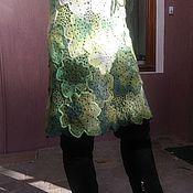 """Одежда ручной работы. Ярмарка Мастеров - ручная работа Мохеровая юбка """"Листья"""". Handmade."""