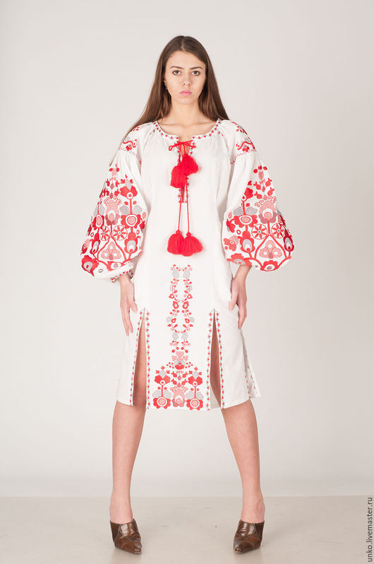 """Платья ручной работы. Ярмарка Мастеров - ручная работа. Купить Этническое платье """"ДЕРЕВО ЖИЗНИ"""". Handmade. Белый, вышивка, нарядное"""