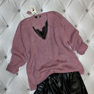 Одежда ручной работы. Ярмарка Мастеров - ручная работа Мохеровый пуловер. Handmade.