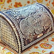 """Для дома и интерьера ручной работы. Ярмарка Мастеров - ручная работа Хлебница из бересты """"Мишки в малине"""". Handmade."""