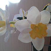 Цветы и флористика ручной работы. Ярмарка Мастеров - ручная работа Нарциссы из фоамирана. Handmade.