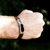 Украшения handmade. Livemaster - original item Classic bracelet made of leather and unisex steel. Handmade.