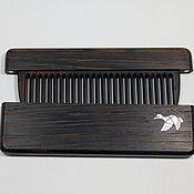 Сувениры и подарки handmade. Livemaster - original item Wooden wenge comb in case with pearl Duck Inc. Handmade.