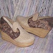 """Обувь ручной работы. Ярмарка Мастеров - ручная работа Туфли валяные """"Королевский бал"""". Handmade."""