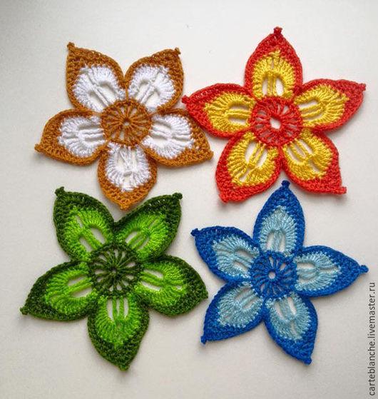 Цветы ручной работы. Ярмарка Мастеров - ручная работа. Купить Вязаные цветы. Handmade. Комбинированный, цветы, цветы ручной работы