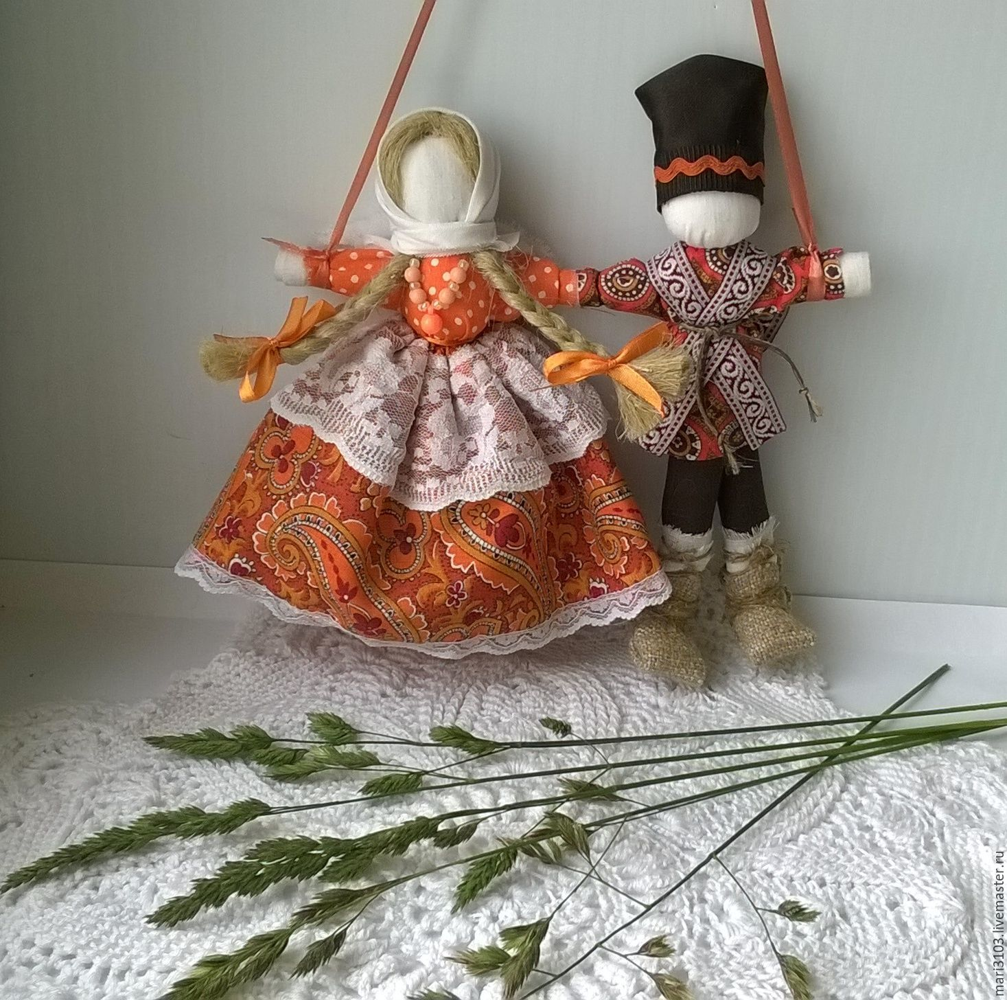 Lovebird wedding doll, Folk Dolls, Vyazma,  Фото №1