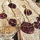 Комплекты украшений ручной работы. Ярмарка Мастеров - ручная работа. Купить Сливовая самсара. Handmade. Тёмно-фиолетовый, колье, бусины
