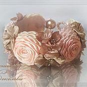 Украшения ручной работы. Ярмарка Мастеров - ручная работа Браслет с цветами. Handmade.