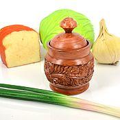 Посуда handmade. Livemaster - original item Salt and pepper shakers: carved wooden salt shaker