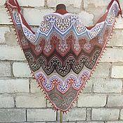 Аксессуары handmade. Livemaster - original item Shawl Big Jasmine Author`s Work Shawl With Knitting Needles. Handmade.