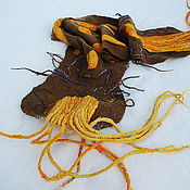 """Аксессуары ручной работы. Ярмарка Мастеров - ручная работа Войлочный шарф """"Чужой"""". Handmade."""