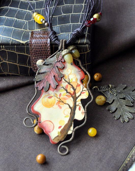 """Кулоны, подвески ручной работы. Ярмарка Мастеров - ручная работа. Купить Кулон """"Воспоминания"""". Handmade. Комбинированный, плетеный кулон"""