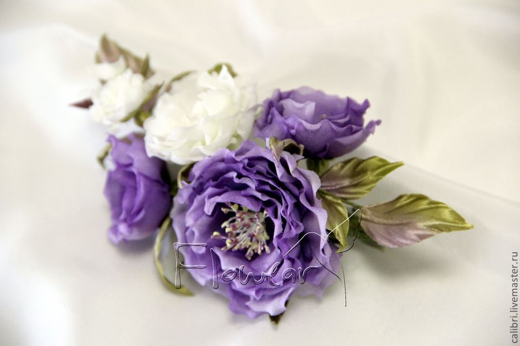 Купить цветы из шелка ручной работы купить розы бордюрные или почвопокровные