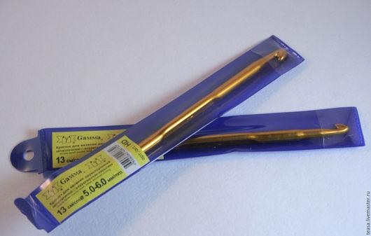 Крючки металлические двухсторонние для вязания с анодированным покрытием (13 см, диаметр 5 и 6 мм)