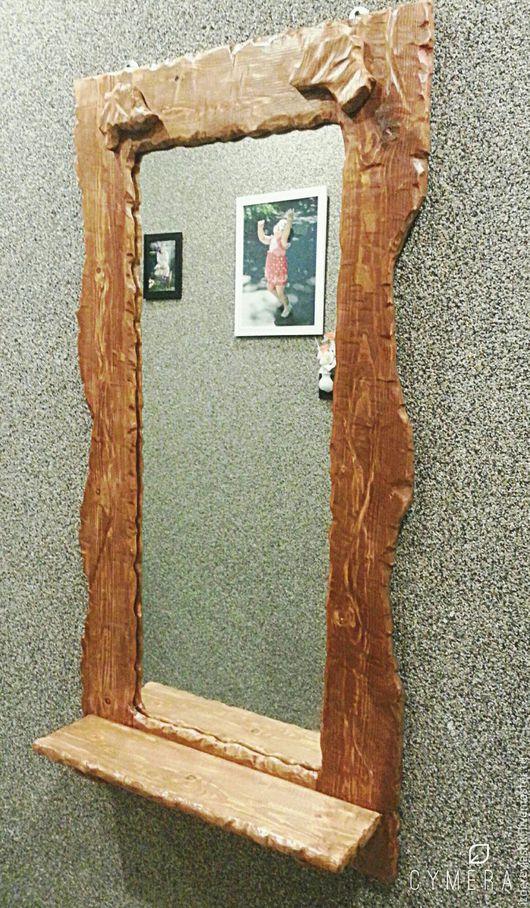 Зеркала ручной работы. Ярмарка Мастеров - ручная работа. Купить Зеркало в раме. Handmade. Оранжевый, зеркало в раме, деревянная рама