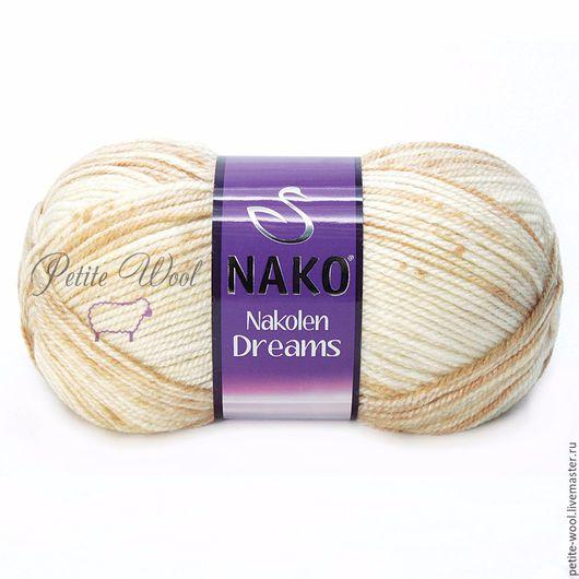 Пряжа NAKOLEN DREAMS Nako Секционное крашение полушерсть