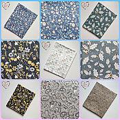 Материалы для творчества handmade. Livemaster - original item Satin China fabric Cotton Provence flowers. Handmade.