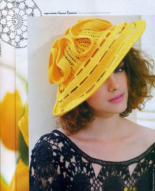 """Шляпы ручной работы. Ярмарка Мастеров - ручная работа. Купить Шляпа """"Одуванчик"""". Handmade. Желтый, шляпа с полями, вискоза импортная"""