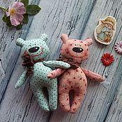 Мягкие игрушки ручной работы. Ярмарка Мастеров - ручная работа Мишки разбойники, котятки ребятки. Handmade.