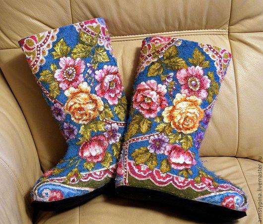 Обувь ручной работы. Ярмарка Мастеров - ручная работа. Купить Под  платок 2. Handmade. Валенки, зима, обувь для улицы