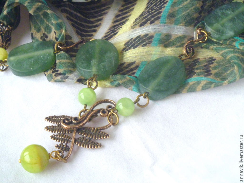 Necklace 'Legend of fern', Necklace, Moscow,  Фото №1