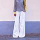 Брюки, шорты ручной работы. Ярмарка Мастеров - ручная работа. Купить Гороховые шаровары. Handmade. Чёрно-белый, джинсы, шаровары